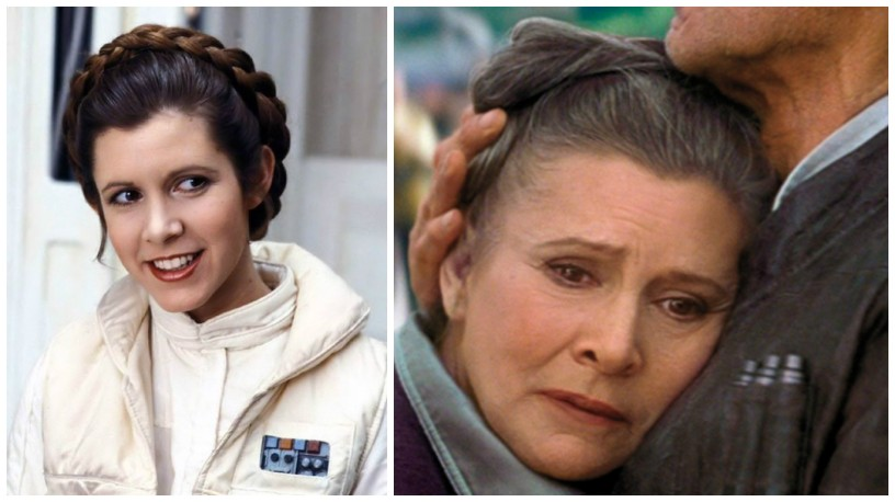 Image result for carrie fisher princess leia old young""