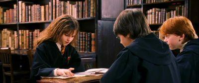 trio in library