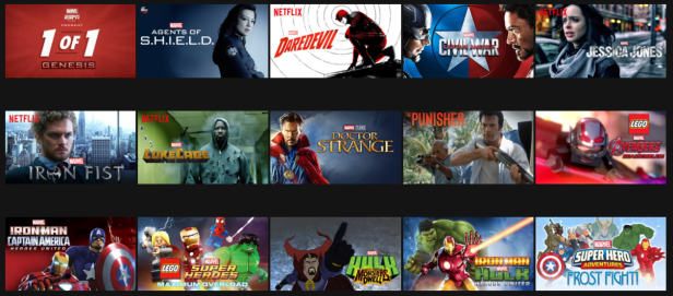 marvel on netflix