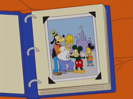 simpsons at disneyland