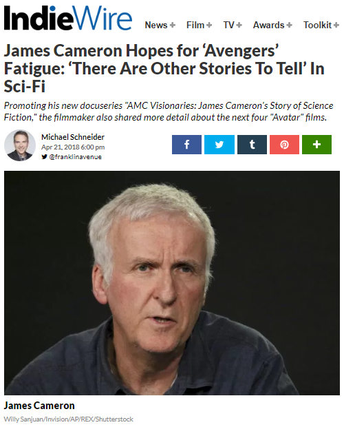 james cameron avengers fatigue