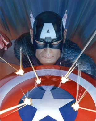 alex-ross-marvel-studio-hand-signed-limited-edition-fine-art-giclee-on-canvas-visions-captain-america-5