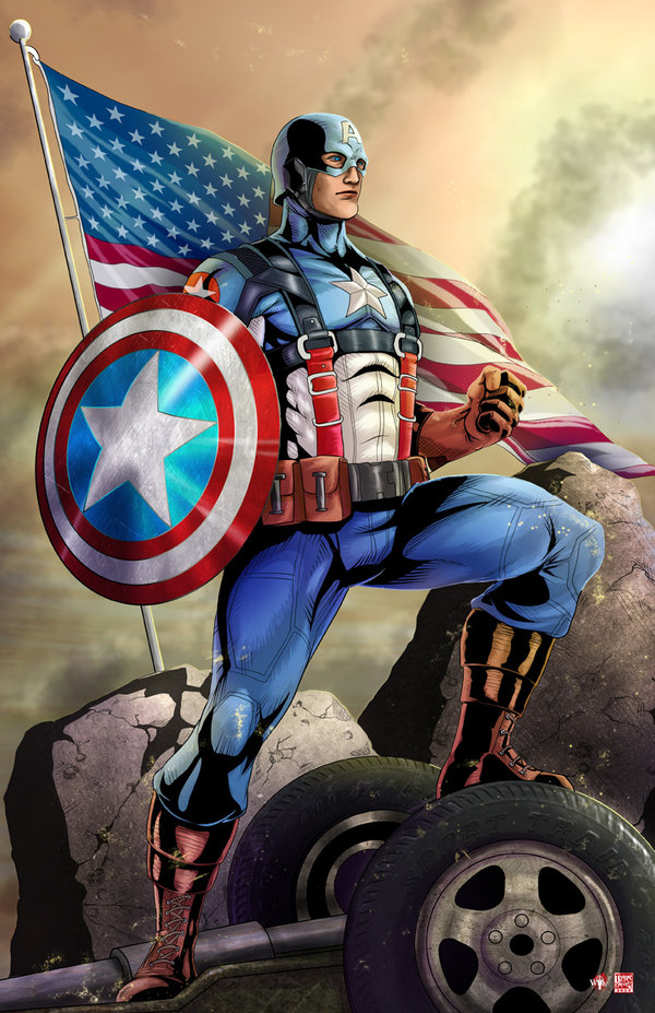 captain america art