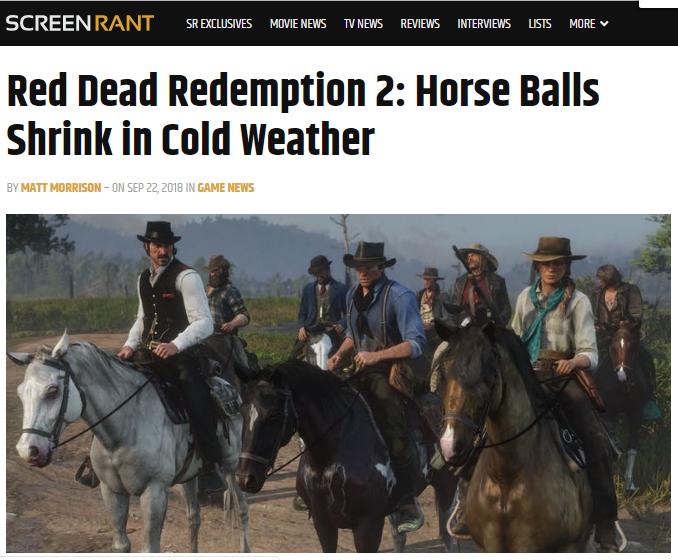 red dead horse balls
